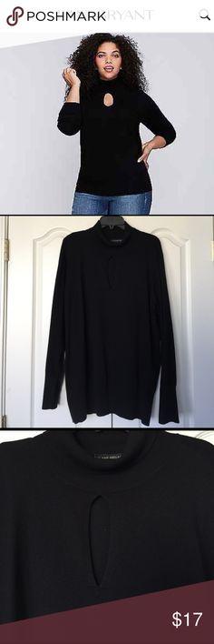 Turtleneck sweater with keyhole Turtleneck sweater with keyhole. Worn once. Size 22/24 Lane Bryant Sweaters Cowl & Turtlenecks