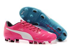 sale retailer 0ff3f 80dfe 2014 FIFA Word Cup Brazil Puma EvoPOWER 1 Tricks FG Soccer Boots blue pink  Cheap Soccer