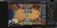 This is the UI for the twitch streaming service that can me used to live stream footage of a task that anyone is doing ranging from games to design.