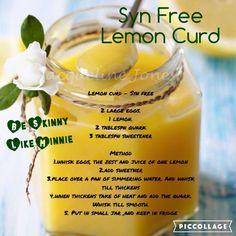 Slimming World Syn Free Lemon Curd Slimming World Syns, Slimming Eats, Slimming World Recipes, Ww Recipes, Cooking Recipes, Healthy Recipes, Recipies, Lemon Curd Recipe, Juice Of One Lemon