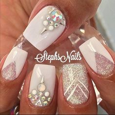 Fashion Gliter Simple Cute Nails 23