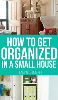 to Get Organized in a Small House Small spaces are sometimes the hardest to organize. I love these organization tips for the home!Small spaces are sometimes the hardest to organize. I love these organization tips for the home! Organisation Hacks, Life Organization, Organization Station, Bathroom Organization, Small Space Living, Small Spaces, Small Small, Ideas Para Organizar, Organizing Your Home