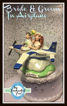 Airplane Wedding Cake Topper Wedding Cake by EnchantedYou54449