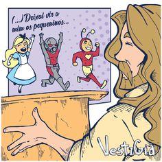 Então Jesus chamou as crianças para perto de si e disse:  — Deixem que as crianças venham a mim e não proíbam que elas façam isso, pois o Reino de Deus é das pessoas que são como estas crianças. Lucas 18:16