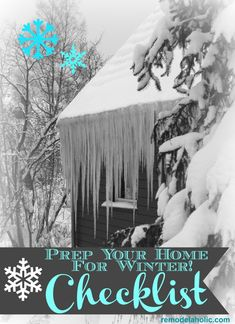 Winter is just around the corner. time to get your home ready, but where do you start. Check out our winter home checklist as the perfect place to get going! Real Madrid, Barcelona, Winter Survival, Home Management, Home Ownership, Home Repairs, Home Hacks, Emergency Preparedness, Home Interior