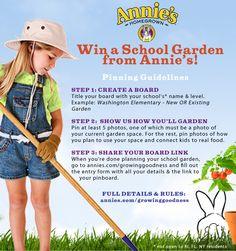 School Garden!  SWEEPSTAKES!