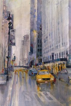 Paintings of New York City in the rain - Google Search