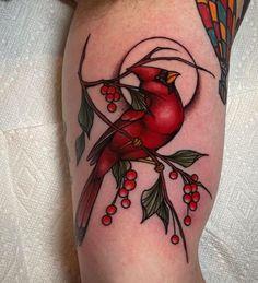 Red Cardinal Tattoos, Small Cardinal Tattoo, Red Bird Tattoos, Bff Tattoos, Family Tattoos, Skull Tattoos, Rose Tattoos, Tattoos For Guys, Cardinal Birds