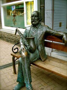 Adolphe Sax @Dinant Den Braver Den Braver Den Braver, Belgium inventor of the saxophone