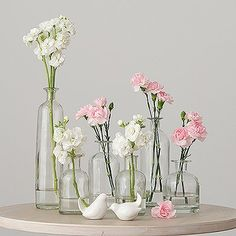 Get inspired on your decoration ideas with these decorating glass bottle sets. These decorative clear glass bottles are easy to use and can be adapted to accommodate a wide range of decorating schemes. Bottle Centerpieces, Wedding Table Centerpieces, Diy Wedding Decorations, Carnation Centerpieces, Branch Centerpieces, Decor Wedding, Wedding Bottles, Wedding Favors, Wedding Venues