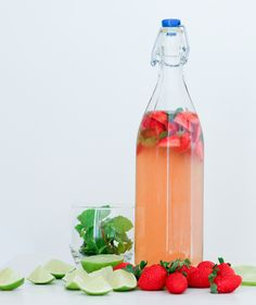 Strawberry Mojito Kombucha Tea