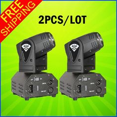 150.00$  Watch now - 2PCS A Lot 10W Mini LED Moving Head Beam Light DMX DJ Euipments For Stage Party Light High Quality Disco Effect Light  #buyonline
