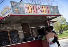 I loooove that Carpe Donut is on the front. Food Trucks At Weddings | Intimate Weddings - Small Wedding Blog - DIY Wedding Ideas for Small and Intimate Weddings - Real Small Weddings