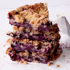 Fresh or frozen blueberries make a fine substitute for tart and sweet huckleberries in this moist, crumbly cake.