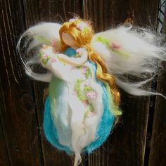 Custom for Katy  Needle felted Blooming Pastel Mommy By von Nushkie