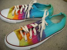 Tie dye custom Converse All Star shoes on Etsy, $64.00