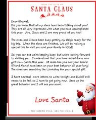 "You can buy ""Letters From Santa"" they come in an official looking letter and not in your hand writing! I'm going to get it this year because my daughter caught on last year. Christmas Letter From Santa, Christmas Town, Santa Letter, Christmas Ornaments, Personalized Letters From Santa, Official Letter, Santa's Nice List, How To Make Toys, Handwritten Letters"