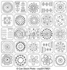 Doodle flowers & patterns | canstockphoto.com