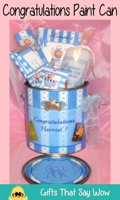 GIFTS THAT SAY WOW - Fun Crafts and Gift Ideas: Congratulations Paint Can Gift