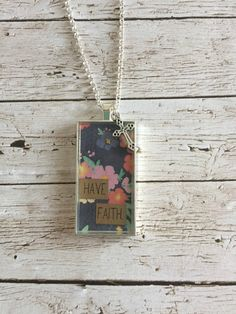 Have Faith Necklace by WildRoseMN on Etsy
