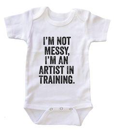 """""""""""I am an Artist in Training"""""""" Baby Onesie Bodysuit"""
