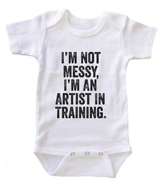 """I'm an Artist in Training"" Baby Onesie"