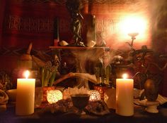 hearth Altar in honour of Hestia, the Goddess of the household, although a few other Gods and Goddesses sneak in from time to time