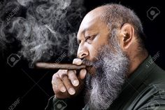 Hebrew beard; Zaqan; Philly Beard Black Men Beards, Long Beards, Man Smoking, Cigar Smoking, Badass Beard, Thick Beard, Cigar Men, Great Beards, Beard Styles For Men