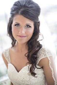 Gorgeous bridal hair!