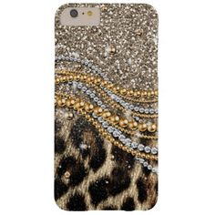 Beautiful trendy leopard faux animal print barely there iPhone 6 plus case Personalize / Customize #iphone #6Plus