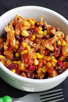 Slow-Cooker Chicken Taco Chili | Easy Cookbook Recipes