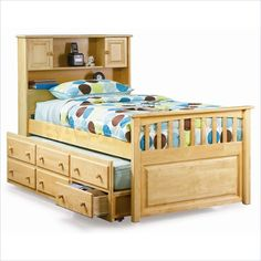 Perfect for Lucas' big boy bed!   Love trundle beds and definitely  getting one. Maybe a vintage looking/color
