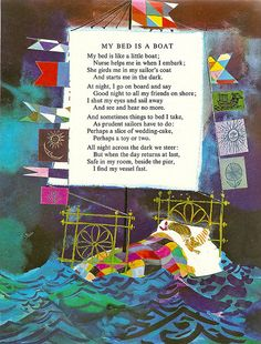 """A Child's Garden of Verses"" by Robert Louis Stevenson; Oxford UP. Illustrations by Brian Wildsmith. 1966."