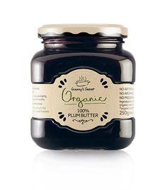 Granny's Secret Organic - The Dieline - Jam Packaging, Food Packaging Design, Bottle Packaging, Pretty Packaging, Packaging Design Inspiration, Brand Packaging, Jar Design, Bottle Design, Label Design