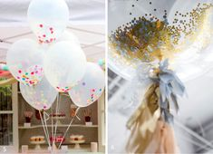 Throw something into the mix - Party balloons - Classy - Glitter - Confetti - Spice up the string.