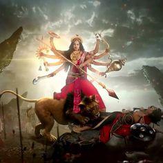 Navratri Puja will help you overcome all your negativities. Flourish with wealth on this Navratri by offering Homam to Lakshmi, Saraswathi & Durga. Maa Durga Photo, Maa Durga Image, Lord Durga, Durga Ji, Shiva Parvati Images, Durga Images, Saraswati Goddess, Kali Goddess, Kali Hindu