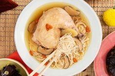One-Pot Ginger Wine Chicken Mee Sua Confinement Food, Asian Food Channel, Asian Recipes, Ethnic Recipes, Happy Foods, One Pot, Noodle Recipes, Chicken Recipes, Fill