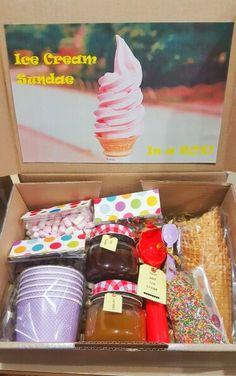 Ice cream sundae in a box!