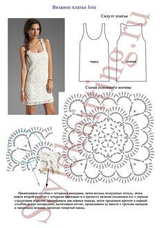 Na passarela,vestido branco de crochet com gráfico