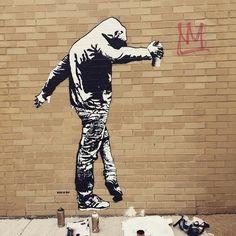 King of Chicago by Blek Le Rat. Blek Le Rat, Graffiti, Bansky, Letter B, Big Ben, Rat King, Street Art, Chicago, Usa