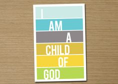Subway Art Children's Wall Art PRINTABLE I Am a by CardsEtcetera, $8.00