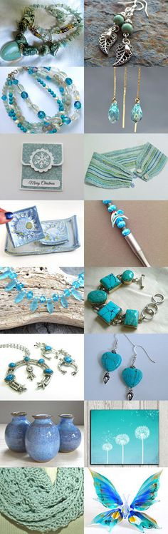 Touch of Turquoise by Amy Esry on Etsy--Pinned with TreasuryPin.com #turquoisegiftguide