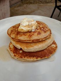 Little b's healthy habits: Almond Flour Pancakes. I made these this morning and they turned out great!!