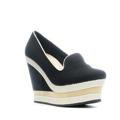 Abbe Wedge Black, $54, now featured on Fab.