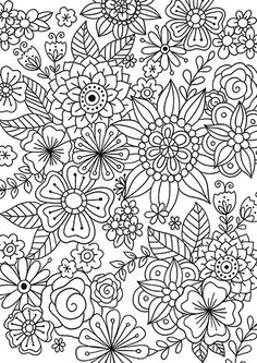 Calyspo Coloring Card - Flowers and Butterflies