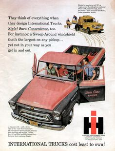 International Harvesters, pickup truck, in pink and gray!