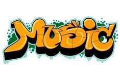 Illustration of Graffiti urban art. Love vector art, clipart and stock vectors. Alphabet Graffiti, Music Graffiti, Graffiti Lettering Fonts, Graffiti Writing, Graffiti Wall, Street Art Graffiti, Graffiti Art Drawings, Graffiti Doodles, Graffiti Designs
