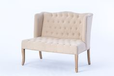 Rent our elegant ivory tufted loveseat for your next event in Wine Country, Napa, Sonoma, or Northern California and make your event unforgettable!