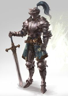 m Fighter Plate Armor Helm Greatsword Knight human male Pathfinder PFRPG DND D&D Fantasy Grounds lg Fantasy Male, Fantasy Armor, Medieval Fantasy, Armadura Medieval, Paladin, Dnd Characters, Fantasy Characters, Armor Concept, Concept Art