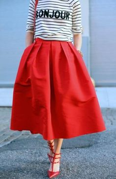 In any language, vintage skirts mean style!